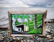 Gnarly Driftwood Frame $80
