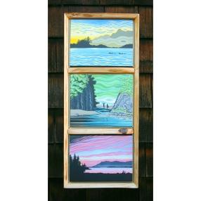 Sunset Sessions 3 Tier Live Edge Cedar Frame$180