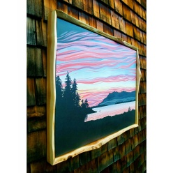Live Edge Red Cedar Frame $200