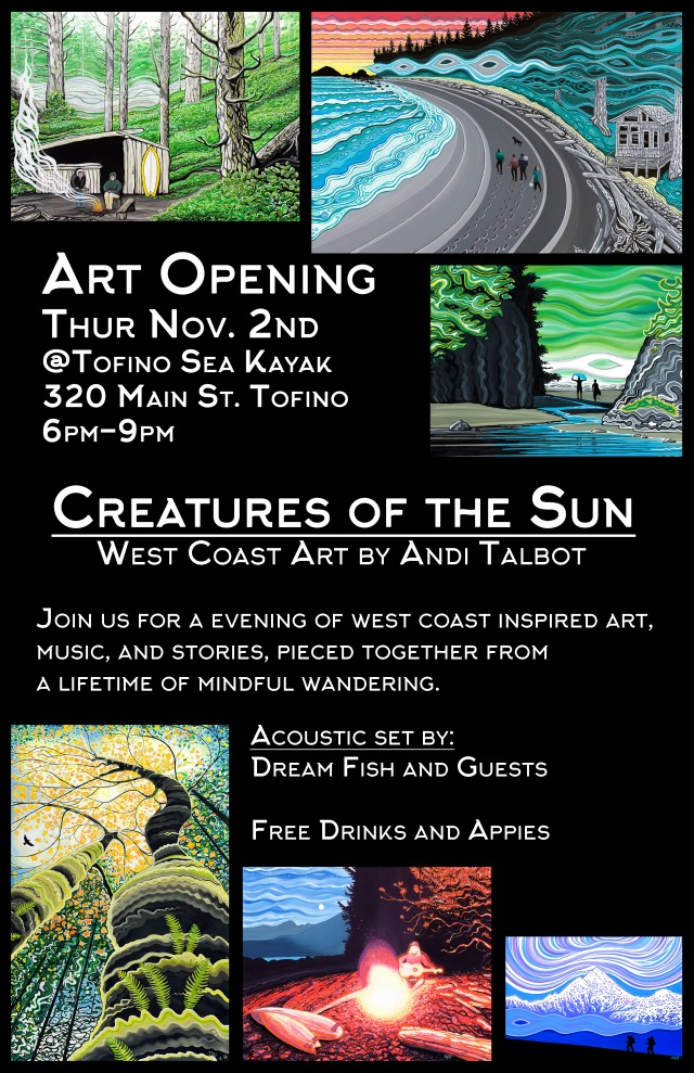 Art Opening Tofino Sea Kayak